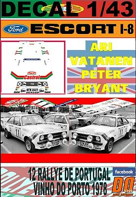 "DECAL 1//43 FORD ESCORT RS 1800 MKII /""BELGA/"" R.DROOGMAS YPRES R 1982 DnF 05"