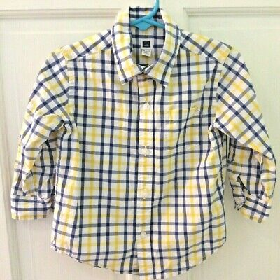 Janie And Jack 18-24 Mths 100% Cotton Long Sleeved Plaid Button Up Shirt Easter