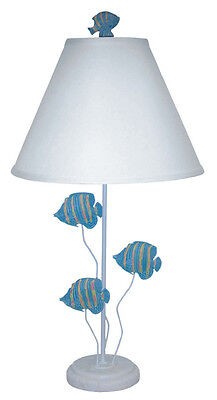 Tropical Queen Angelfish Table Lamp 29 Inches Tall