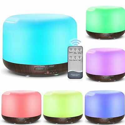 Humidifier Electric Air Diffuser Color Change Night Light Up Home Relax Defuser