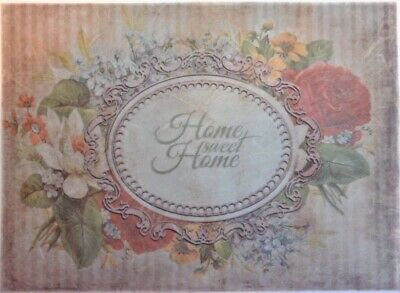 Rice Paper for Decoupage Scrapbook and Crafts Home Sweet Home Flowers 434