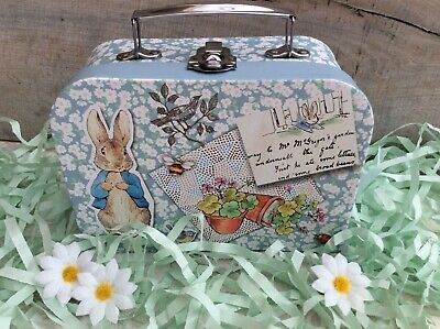 Peter rabbit storage / keepsake suitcase box new baby / shower gift box small
