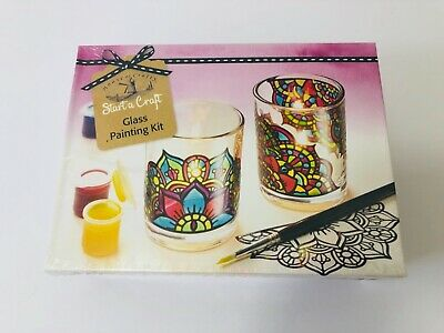 House of Crafts, Glass Painting Starter Craft Kit, Candle Holder.