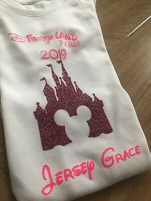 Disney Castle Aged 7-8 Years Tshirt Outfit Girls Age Top Personalised Paris 9-10