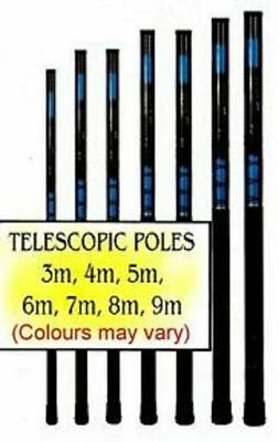 8M Only, Fibre Glass Telescopic Pole Whips And One Pole Stake Free P&P Uk Only.