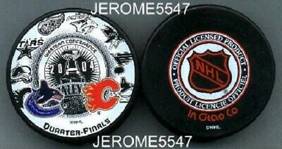 2004 VANCOUVER CANUCKS vs CALGARY FLAMES STANLEY PLAYOFF PUCK - very LAST1