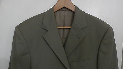 dcc1bed2f HUGO BOSS Angelico/Parma 3 button light weight taupe green blazer 42R  GERMANY