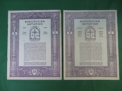 Lot of Two ROSICRUCIAN INITIATION Neophyte Part 3 & Temple Third Portal AMORC