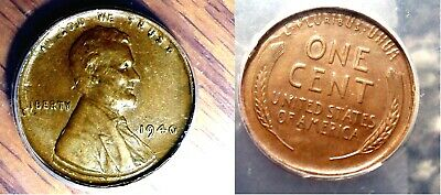 1940 1c Extremely Rare Multiple Error Wheat Cent TRIPLE STRUCK IN COLLAR Coin