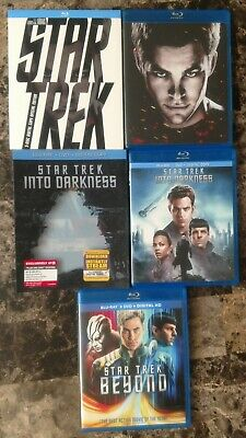 Star Trek Trilogy Lot 3 Movie Collection Complete Set w Slipcovers Beyond