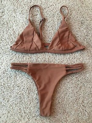 Metallic Bronze Color Bathing Suit Size Small