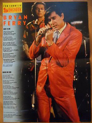BRYAN FERRY Slave to love BRAVO A4 Songbook Clipping 163