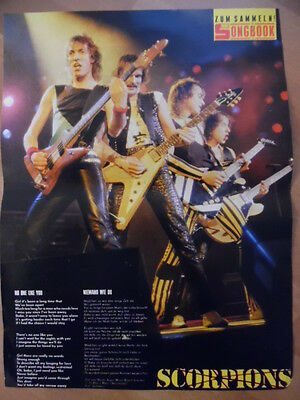 SCORPIONS no one like you BRAVO A4 Songbook Clipping 193