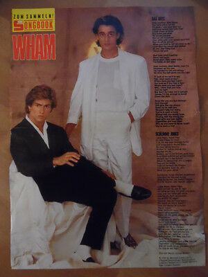 WHAM bad boys  BRAVO A4 Songbook Clipping 197