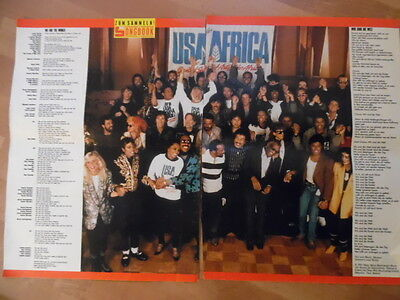 USA FOR AFRICA we are the world  BRAVO A4 Songbook Clipping 196