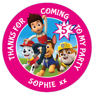 Home & Garden Party Supplies PAW PATROL CHASE PARTY SWEET CONE STICKERS GIFT GOODY BAG SEAL LABELS X35