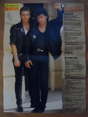 GO WEST We close our eyes BRAVO A4 Songbook Clipping 176