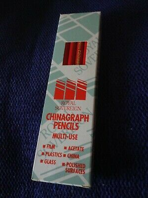 Red Chinagraph Pencils Highest Quality Box Of 12 Pencils Pcs