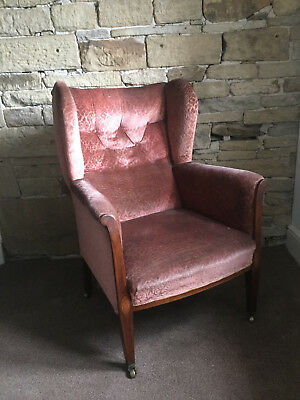 A Rare Antique Wing-back Armchair Restoration