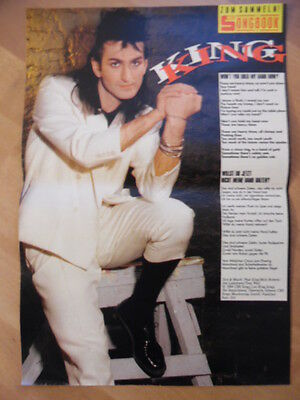 KING Won't you hold my hand now? BRAVO A4 Songbook Clipping 178
