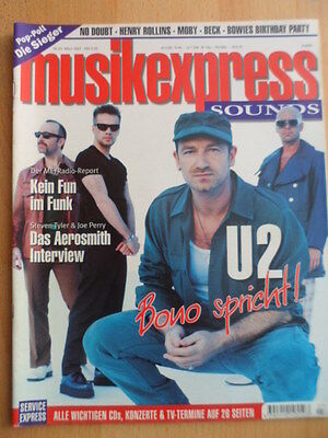 MUSIKEXPRESS 3/1997 U2 Bono Aerosmith No Doubt Henry Rollins David Bowie Moby