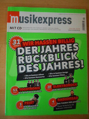 MUSIKEXPRESS 1/2008 * Tocotronic Feist Radiohead Electrorock Get Well Soon