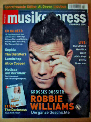 MUSIKEXPRESS 2/2004 * Robbie Williams The Darkness-Beilage Incubus Alice Cooper
