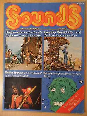 SOUNDS 6/1976 4* Robin Trower Ougenweide Sailor Stones in Kiel Country-Musik
