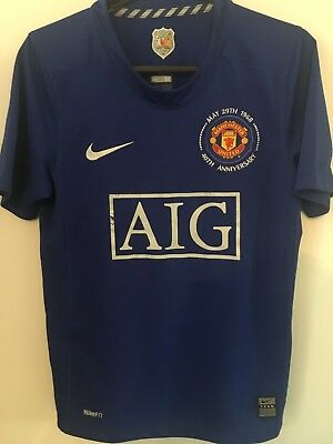 Genuine Manchester United Football Soccer Third Shirt Youth M 2008/2009 Man Utd