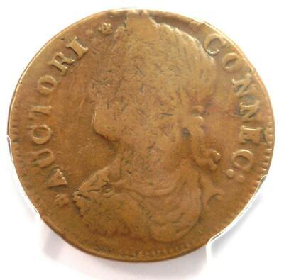 1787 Draped Bust Left Connecticut Colonial Copper Coin - PCGS VF25 - Rare!