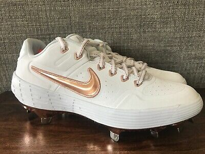 size 40 5f4fb 7c9e1 Nike Men s Alpha Huarache Elite 2 Baseball Cleats Rose Gold Size 7  AJ6873-109
