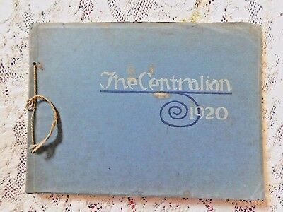 The Centralian Yearbook Central High School Kansas City Mo From 1920