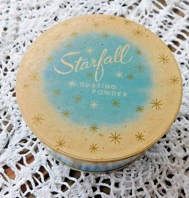 VINTAGE 1950's  UNUSED STARFALL DUSTING POWDER W PRETTY PUFF