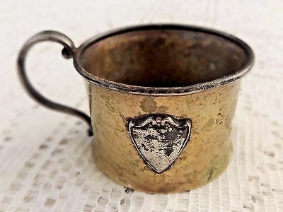 Antique Silverplate Tea Cup - Marked Sheffield & Queen City Silver Company