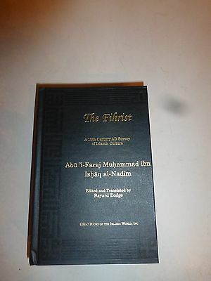The Fihrist: a 10th Century AD Survey of Islamic Culture 1998 HB  B265