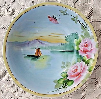 Antique 1891-1921 Takito Company Nippon Hand Painted Porcelain Serving Bowl