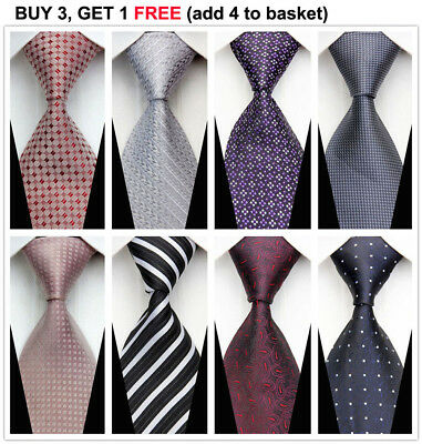 Fashion Classic Striped Tie JACQUARD WOVEN Men's Silk Suits Formal Ties Necktie