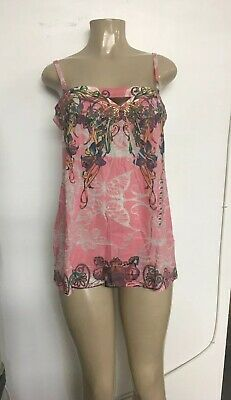 New Butterfly Dropout Womens Colorful  Sun Dress Pink Size  large