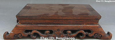 """14"""" Chinese Boxwood Wood Handwork Carving Tea Table Teapoy Desk Tables Statue"""