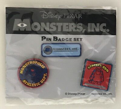 Disney Pin 10558 Japan Monsters, Inc. Pins Set Sulley Mike Free Shipping