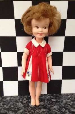 Vintage 1963 Penny Brite Doll In Original Red Dress Deluxe Reading (Topper Toys)