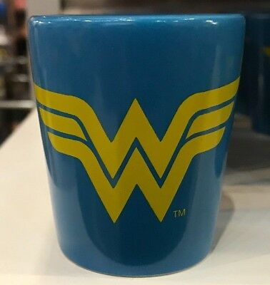 Six Flags Magic Mountain Wonder Woman Two Tone Shot Glass New