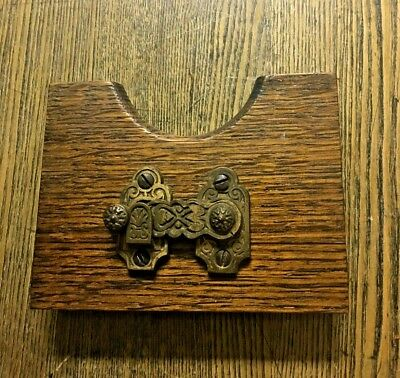 Antique Victorian Ornate Cast Brass Shutter Latch, c1890