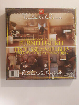 President's Choice NEW FACTORY SEALED Wooden Doll House Furniture Kit 1997