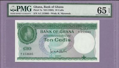 1965 Ghana, Bank of Ghana  Pick # 7a   PMG EPQ  **SCROLL DOWN FOR SCANS**