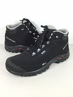 3a487f623cff Salomon Shelter CS WP Men s Sz 12 Black Insulated Lace Up Winter Boots  X19-359