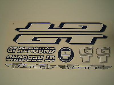 Blue /& Silver. GT Rebound Stickers Red