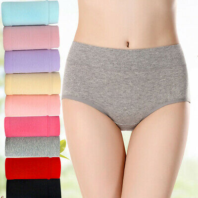 Women Cotton High Waist Seamless Underwear Panties Knickers Lingeries Briefs