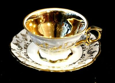 Haus Dresden Glod Scroll Cup And Saucer