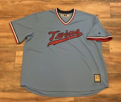 d4455a618 Minnesota Twins Majestic Cooperstown Powder Blue MLB Baseball Jersey Mens  4XL 4X